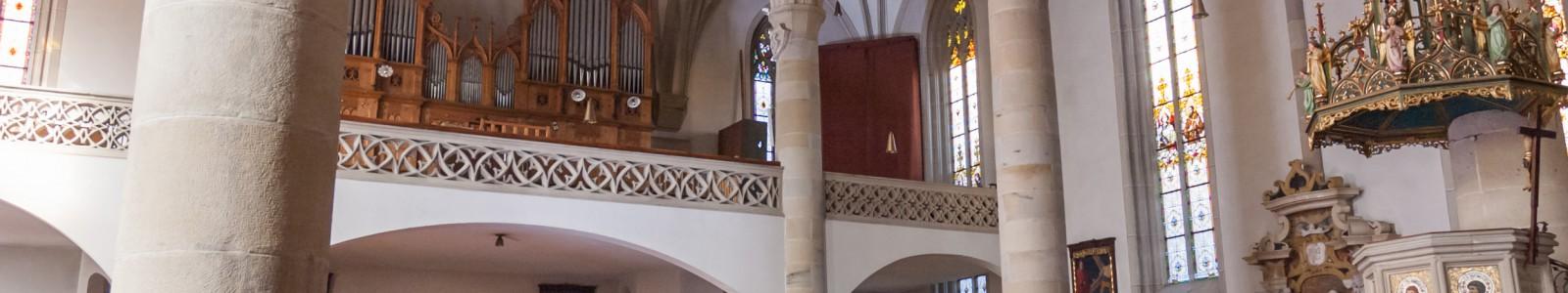 Innenaufnahme Pfarrkirche Tramin