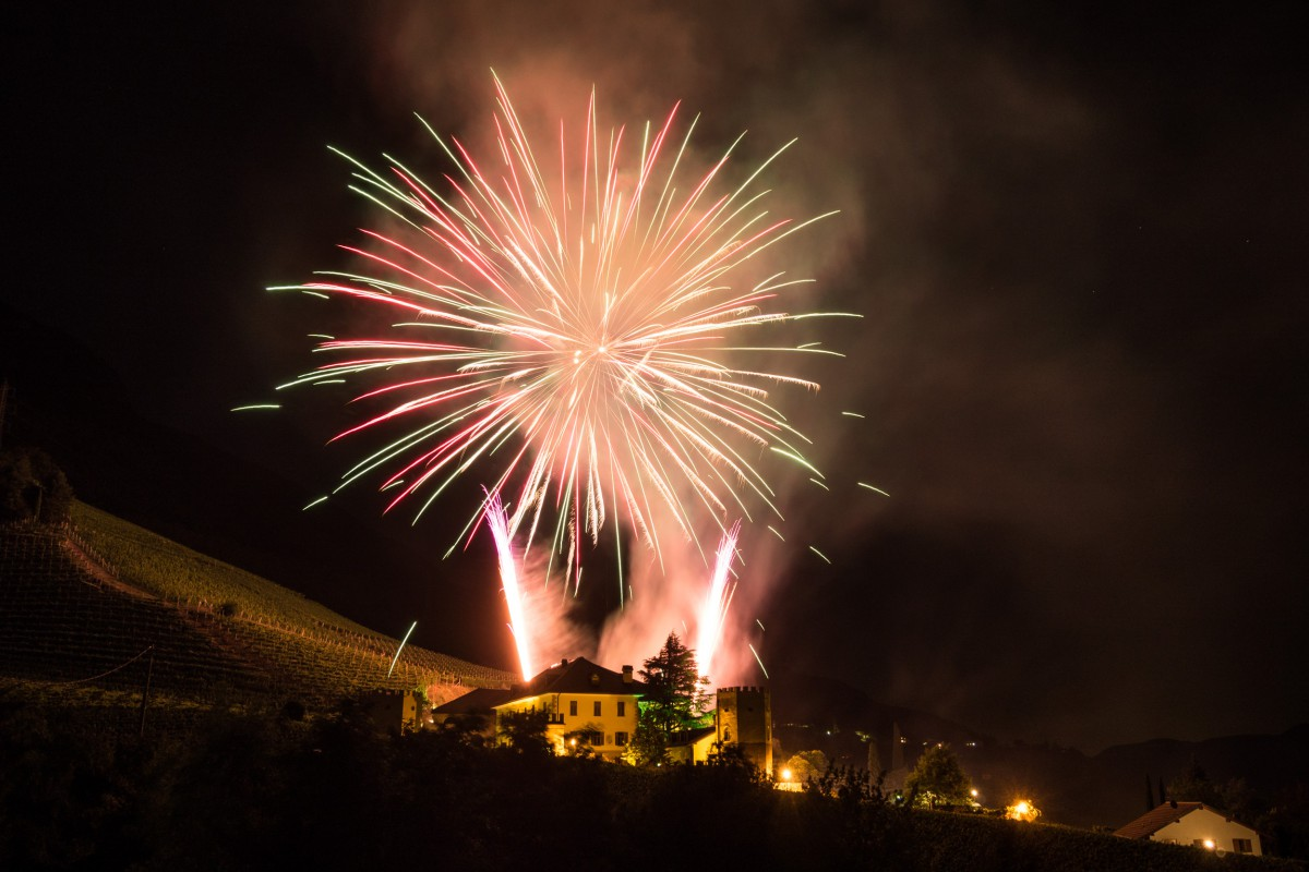Feuerwerk Schloss Rechtenthal