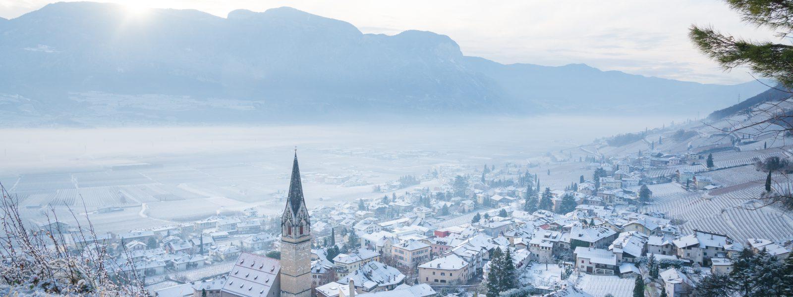 Tramin_im_Winter_Schnee
